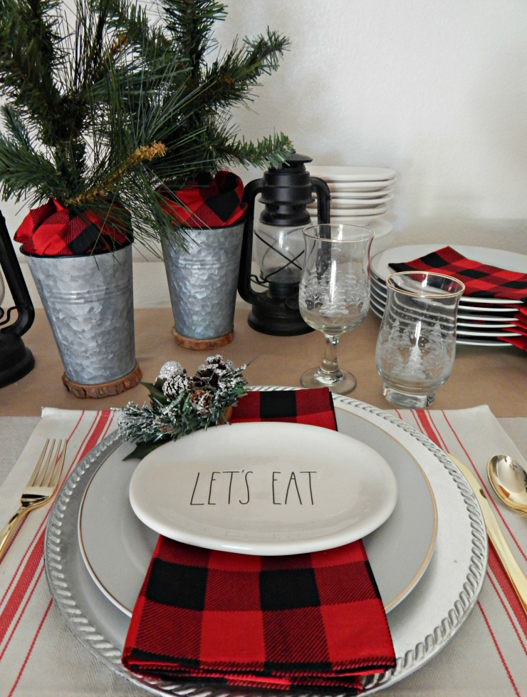 Christmas Breakfast Tablescape with Buffalo Plaid