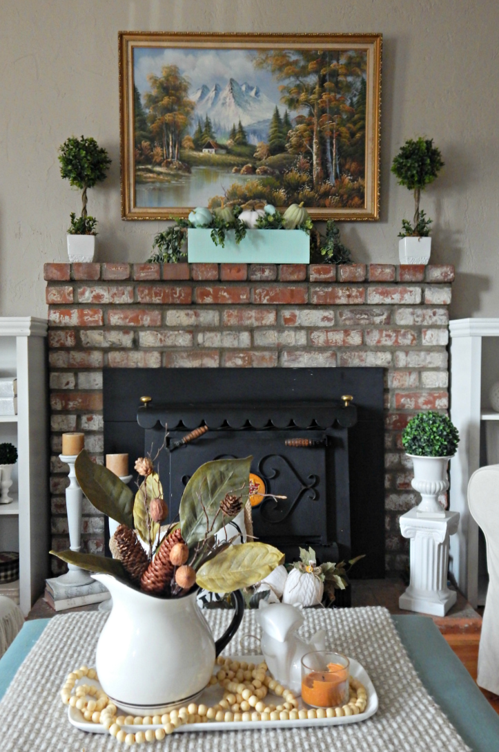 Fall Living Room Mantle