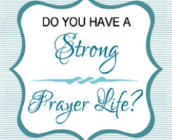 Prayer Life Assessment