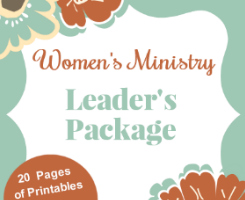 Women's Ministry Printables Package
