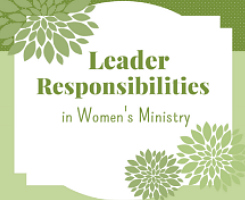 Women's Ministry Responsibilities