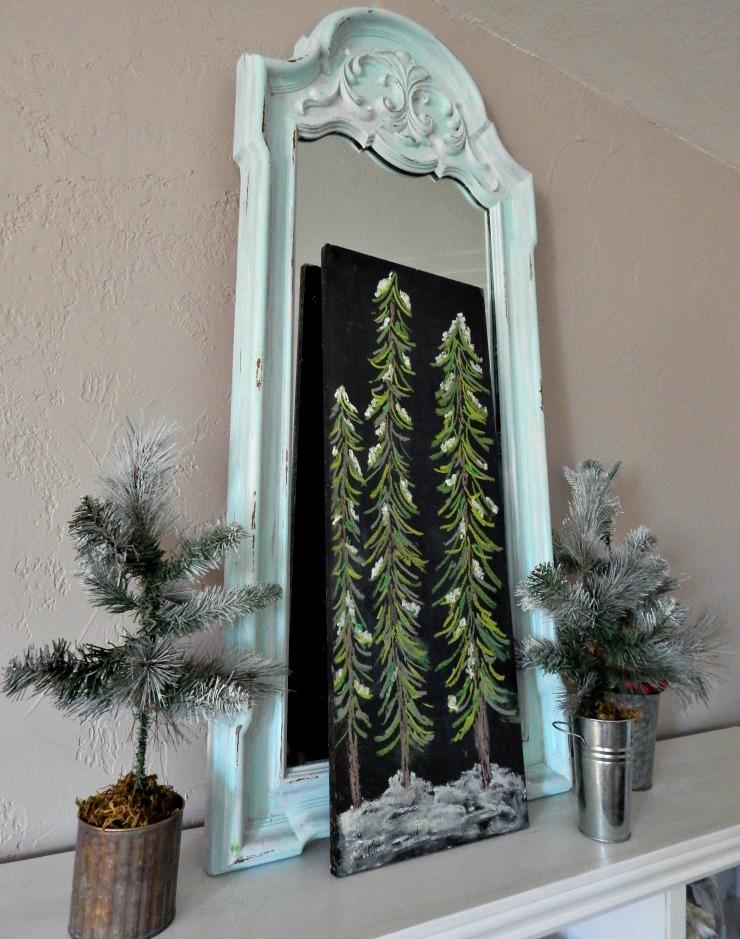 Christmas Tree Chalkboard and DIY Trees