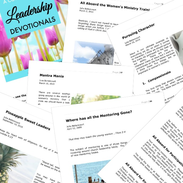 Leadership Devotionals Layout